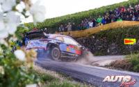 Dani Sordo, al volante del Hyundai i20 Coupé WRC, durante el Rally de Alemania 2018, puntuable para el Campeonato del Mundo de Rallies WRC.