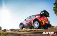 Craig Breen, al volante del Citroën C3 WRC, durante el Rally de Alemania 2018, puntuable para el Campeonato del Mundo de Rallies WRC.