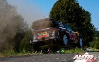 Sébastien Ogier, al volante del Ford Fiesta WRC, durante el Rally de Alemania 2018, puntuable para el Campeonato del Mundo de Rallies WRC.