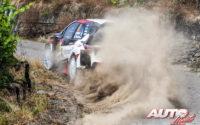 Ott Tänak, al volante del Toyota Yaris WRC, ganador del Rally de Alemania 2018, puntuable para el Campeonato del Mundo de Rallies WRC.
