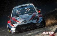 Kris Meeke, al volante del Toyota Yaris WRC, durante el Rally de Montecarlo 2019, puntuable para el Campeonato del Mundo de Rallies WRC.