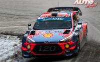 Thierry Neuville, al volante del Hyundai i20 Coupé WRC, durante el Rally de Montecarlo 2019, puntuable para el Campeonato del Mundo de Rallies WRC.