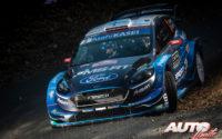 Teemu Suninen, al volante del Ford Fiesta WRC, durante el Rally de Montecarlo 2019, puntuable para el Campeonato del Mundo de Rallies WRC.