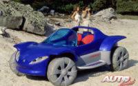 """El Peugeot Touareg fue un """"concept car"""" tipo buggy que tenía tracción 4x4, propulsión eléctrica y un motor térmico para recargar las baterías."""
