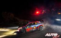 Sébastien Loeb, al volante del Hyundai i20 Coupé WRC, durante el Rally de Montecarlo 2019, puntuable para el Campeonato del Mundo de Rallies WRC.