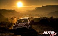 Ott Tänak, al volante del Toyota Yaris WRC, durante el Rally de Montecarlo 2019, puntuable para el Campeonato del Mundo de Rallies WRC.