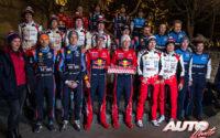 Pilotos y copilotos WRC del Campeonato del Mundo de Rallies 2019, durante el Rally de Montecarlo 2019.