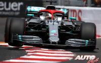 Victoria de Hamilton en rojo Lauda. GP Mónaco 2019