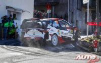 Jari-Matti Latvala, al volante del Toyota Yaris WRC, durante el Rally de Francia - Tour de Corse 2019, puntuable para el Campeonato del Mundo de Rallies WRC.