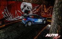 Teemu Suninen, al volante del Ford Fiesta WRC, durante el Rally de México 2019, puntuable para el Campeonato del Mundo de Rallies WRC.