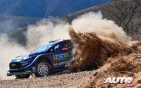 Elfyn Evans, al volante del Ford Fiesta WRC, durante el Rally de México 2019, puntuable para el Campeonato del Mundo de Rallies WRC.