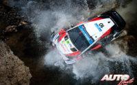 Jari-Matti Latvala, al volante del Toyota Yaris WRC, durante el Rally de México 2019, puntuable para el Campeonato del Mundo de Rallies WRC.