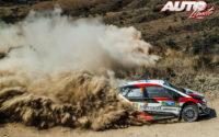 Ott Tänak, al volante del Toyota Yaris WRC, durante el Rally de México 2019, puntuable para el Campeonato del Mundo de Rallies WRC.