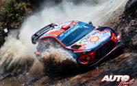 Dani Sordo, al volante del Hyundai i20 Coupé WRC, durante el Rally de México 2019, puntuable para el Campeonato del Mundo de Rallies WRC.