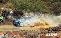 Lucasz Pieniazek, al volante del Ford Fiesta R5 WRC2, durante el Rally de México 2019, puntuable para el Campeonato del Mundo de Rallies WRC2.