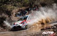 Kris Meeke, al volante del Toyota Yaris WRC, durante el Rally de México 2019, puntuable para el Campeonato del Mundo de Rallies WRC.