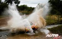 Mads Ostberg, al volante del Citroën C3 R5 WRC2, durante el Rally de Argentina 2019, puntuable para el Campeonato del Mundo de Rallies WRC2.