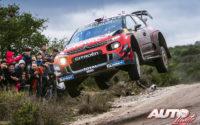 Esapekka Lappi, al volante del Citroën C3 WRC, durante el Rally de Argentina 2019, puntuable para el Campeonato del Mundo de Rallies WRC.