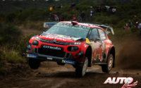 Sébastien Ogier, al volante del Citroën C3 WRC, durante el Rally de Argentina 2019, puntuable para el Campeonato del Mundo de Rallies WRC.