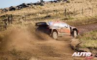 Andreas Mikkelsen, al volante del Hyundai i20 Coupé WRC, durante el Rally de Argentina 2019, puntuable para el Campeonato del Mundo de Rallies WRC.