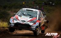 Ott Tänak, al volante del Toyota Yaris WRC, durante el Rally de Argentina 2019, puntuable para el Campeonato del Mundo de Rallies WRC.