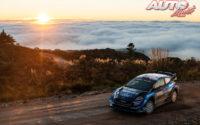 Teemu Suninen, al volante del Ford Fiesta WRC, durante el Rally de Argentina 2019, puntuable para el Campeonato del Mundo de Rallies WRC.
