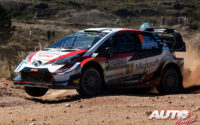 Jari-Matti Latvala, al volante del Toyota Yaris WRC, durante el Rally de Argentina 2019, puntuable para el Campeonato del Mundo de Rallies WRC.