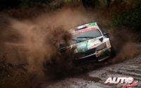 Benito Guerra, al volante del Skoda Fabia R5 WRC2, durante el Rally de Argentina 2019, puntuable para el Campeonato del Mundo de Rallies WRC2.