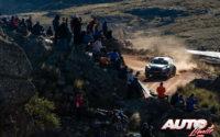 Gus Greensmith, al volante del Ford Fiesta R5 WRC2, durante el Rally de Argentina 2019, puntuable para el Campeonato del Mundo de Rallies WRC2.