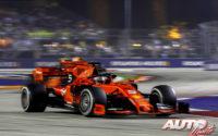 """""""Undercut"""" entre compañeros. GP de Singapur 2019"""