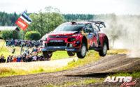Esapekka Lappi, al volante del Citroën C3 WRC, durante el Rally de Finlandia 2019, puntuable para el Campeonato del Mundo de Rallies WRC.