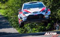 Ott Tänak, al volante del Toyota Yaris WRC, ganador del Rally de Alemania 2019, puntuable para el Campeonato del Mundo de Rallies WRC.