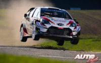 Kris Meeke, al volante del Toyota Yaris WRC, durante el Rally de Alemania 2019, puntuable para el Campeonato del Mundo de Rallies WRC.
