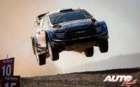 Teemu Suninen, al volante del Ford Fiesta WRC, durante el Rally de Turquía 2019, puntuable para el Campeonato del Mundo de Rallies WRC.