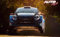 Gus Greensmith, al volante del Ford Fiesta WRC, durante el Rally de Alemania 2019, puntuable para el Campeonato del Mundo de Rallies WRC.