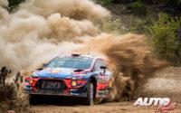 Dani Sordo, al volante del Hyundai i20 Coupé WRC, durante el Rally de Turquía 2019, puntuable para el Campeonato del Mundo de Rallies WRC.