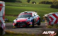 Dominik Dinkel, al volante del Hyundai i20 R5 WRC2, durante el Rally de Alemania 2019, puntuable para el Campeonato del Mundo de Rallies WRC2.
