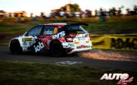 Pieter Jan Michiel, al volante del Skoda Fabia R5 WRC2, durante el Rally de Alemania 2019, puntuable para el Campeonato del Mundo de Rallies WRC2.