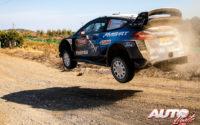 Pontus Tidemand, al volante del Ford Fiesta WRC, durante el Rally de Turquía 2019, puntuable para el Campeonato del Mundo de Rallies WRC.