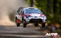 Ott Tänak, al volante del Toyota Yaris WRC, durante el Rally de Turquía 2019, puntuable para el Campeonato del Mundo de Rallies WRC.