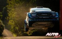 Teemu Suninen, al volante del Ford Fiesta WRC, durante el Rally de Alemania 2019, puntuable para el Campeonato del Mundo de Rallies WRC.