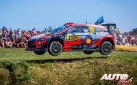 Andreas Mikkelsen, al volante del Hyundai i20 Coupé WRC, durante el Rally de Alemania 2019, puntuable para el Campeonato del Mundo de Rallies WRC.