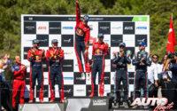 Podio del Rally de Turquía 2019, puntuable para el Campeonato del Mundo de Rallies 2019. De izquierda a derecha: Janne Ferm y Esapekka Lappi (Citroën), Sébastien Ogier con Julien Ingrassia (Citroën) y Andreas Mikkelsen junto a Anders Jæger (Hyundai).