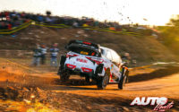 Ott Tänak, al volante del Toyota Yaris WRC, durante el Rally de España 2019, puntuable para el Campeonato del Mundo de Rallies WRC.