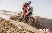 Toby Price, a los mandos de su KTM 450 Rally, durante el Rally Dakar 2020.