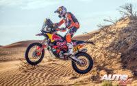 Luciano Benavides, a los mandos de su KTM 450 Rally, durante el Rally Dakar 2020.