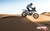 Pablo Quintanilla, a los mandos de su Husqvarna FR 450 Rally, durante el Rally Dakar 2020.