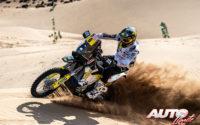 Andrew Short, a los mandos de su Husqvarna FR 450 Rally, durante el Rally Dakar 2020.