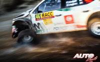 Fabio Andolfi, al volante del Skoda Fabia R5 WRC2, durante el Rally de España 2019, puntuable para el Campeonato del Mundo de Rallies WRC2.