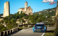 Teemu Suninen, al volante del Ford Fiesta WRC, durante el Rally de España 2019, puntuable para el Campeonato del Mundo de Rallies WRC.